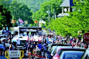 Boyne City's Main Street is filled to capacity with spectators and the poker run has helped jumpstart a resurgence for the area.