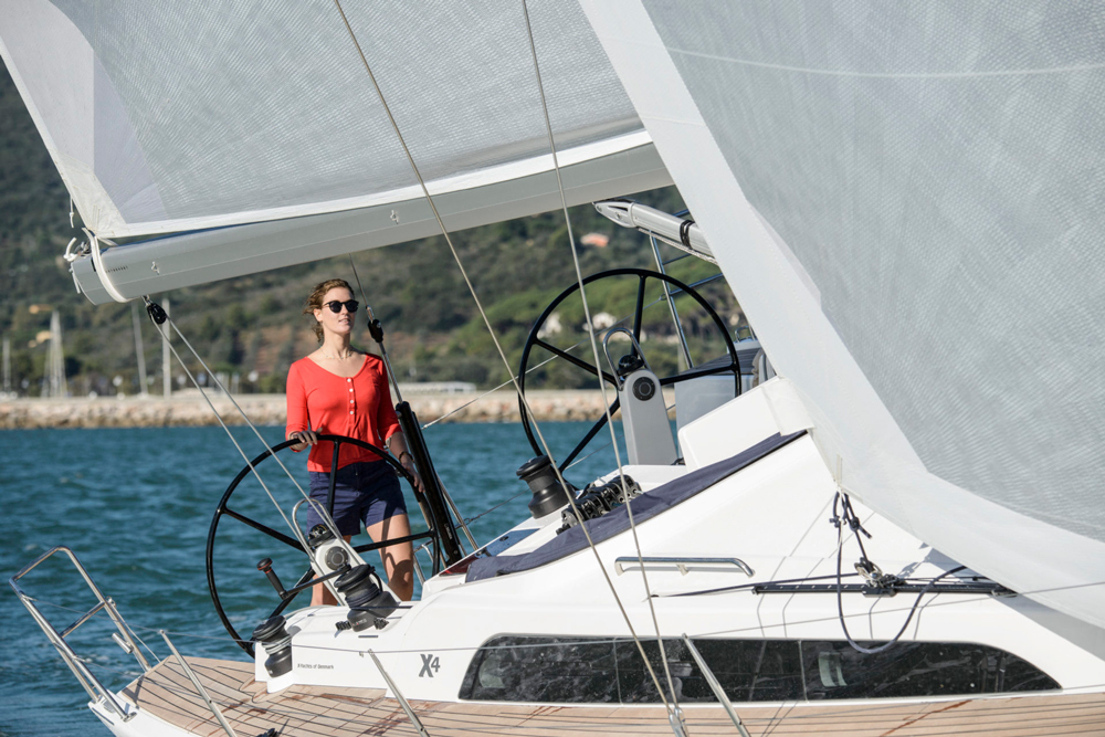 Sight lines forward are excellent, providing a clear view of the headsail telltales.