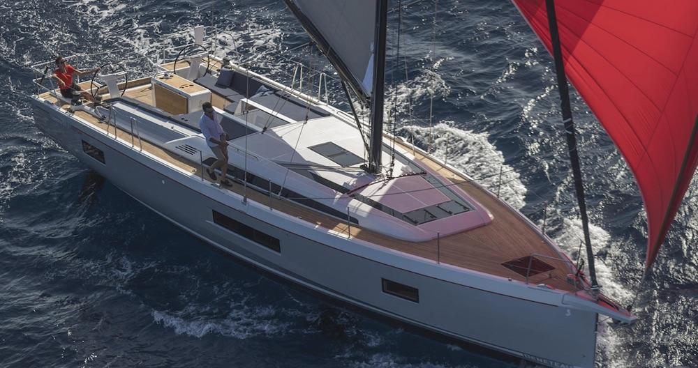 "The fifth model in the .1 line, buyers have the option of three basic versions: ""First,"" the racer, ""Comfort,"" the cruiser, or ""Easy,"" the daysailer."